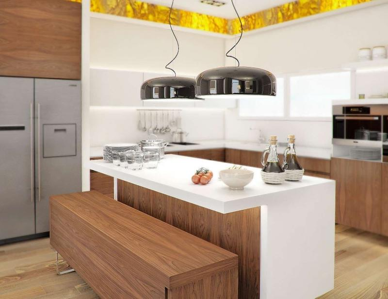 Интерьер кухни со столовой (lesh, г. Санкт-Петербург) 4