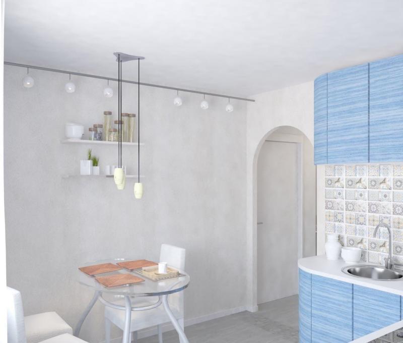 Кухня голубого цвета (lesh, г. Санкт-Петербург) 2