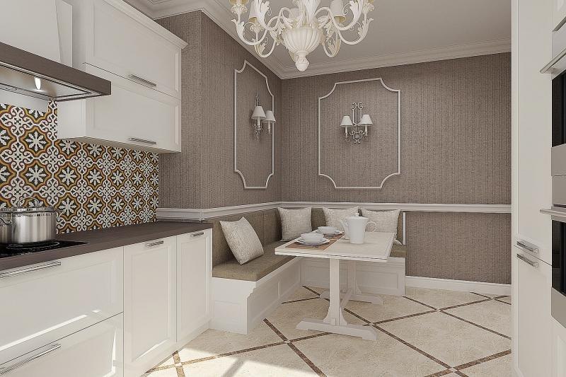 Кухня с П-образной планировкой (artvita, г. Санкт-Петербург) 2