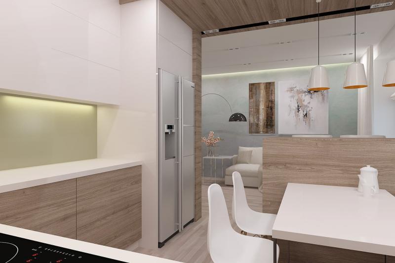 Барная стойка в интерьере кухни (artvita, г. Санкт-Петербург) 4