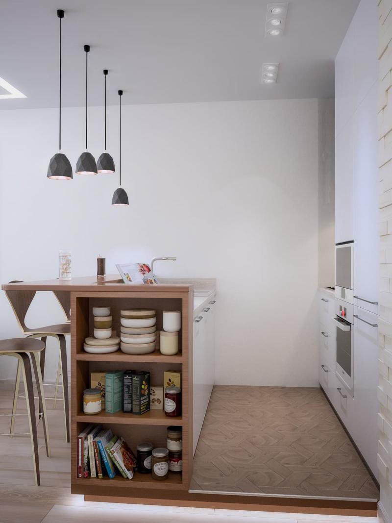 Mutfakların iç mekanları. Öz-tasarım için birkaç ipucu 75