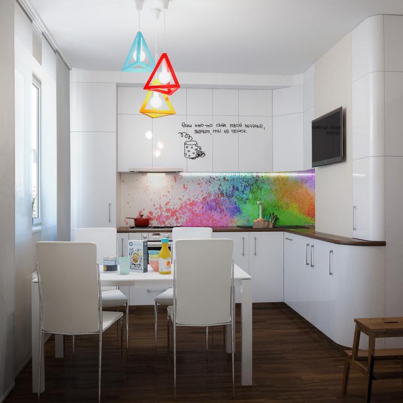 Кухня 10 кв.м в стиле фьюжн (Instilier, г. Москва) 1
