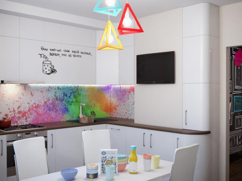 Кухня 10 кв.м в стиле фьюжн (Instilier, г. Москва) 2