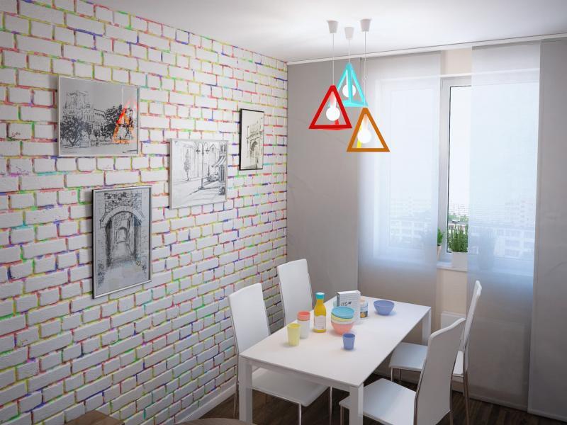 Кухня 10 кв.м в стиле фьюжн (Instilier, г. Москва) 4