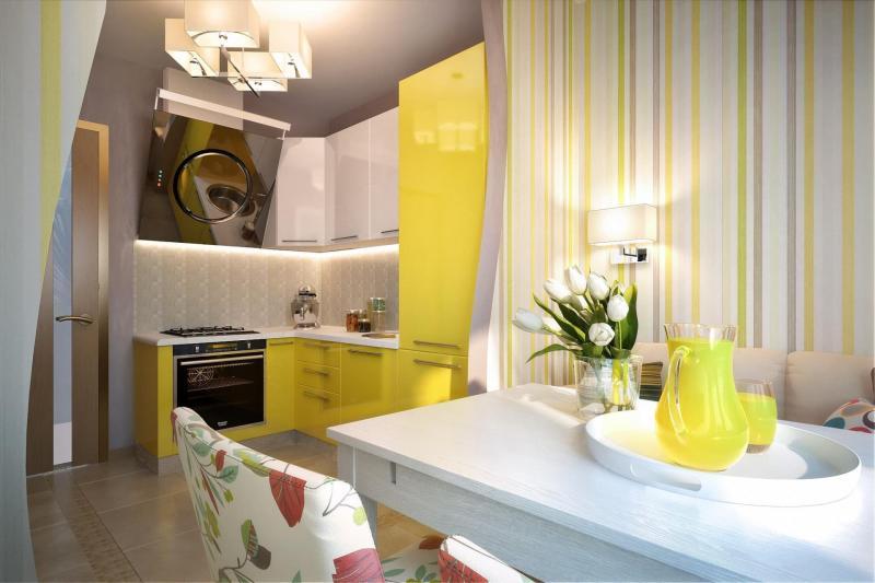 Кухня в желтом цвете (Instilier, г. Москва) 1