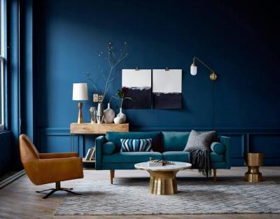 Не черным единым: 6 темных оттенков для интерьера гостиной