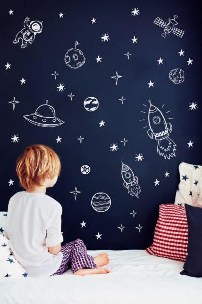 7 идей для детской в космическом стиле