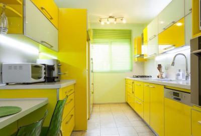 Кухни в желтом цвете 4