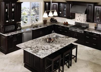 Кухня в черном и белых цветах 3