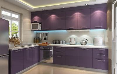 Кухня в фиолетовом цвете 2