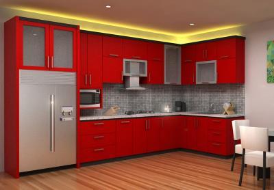 Кухня в красном цвете 3