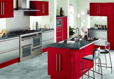 Кухня в красном цвете 5