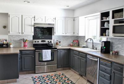 Кухня в сером цвете 1
