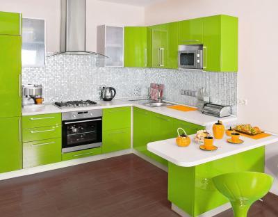 Кухня в зеленом цвете 2