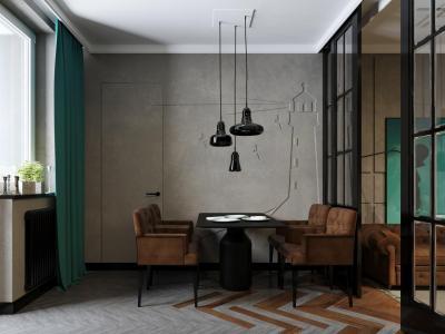 Кухня с прямой планировкой (Арт-студия МИР, г. Москва) 3