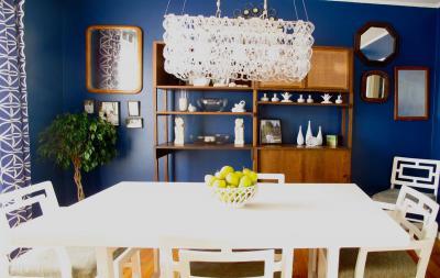 кухонные обои для кухни-студии 11