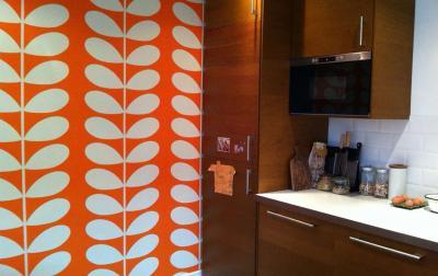 кухонные обои оранжевая гамма 3
