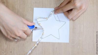 Новогодняя игрушка на ёлку своими руками Звезда Мастер-класс