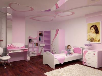 Дизайн потолка из гипсокартона для детской 3