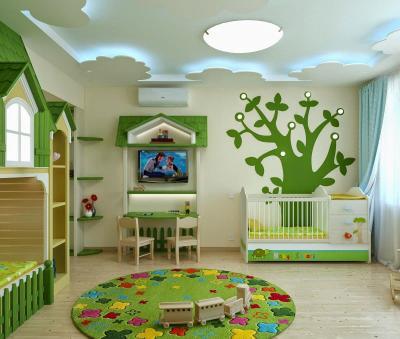 Дизайн потолка из гипсокартона для детской 4