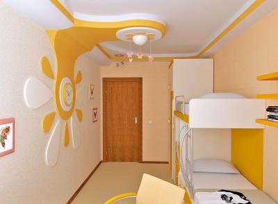 Дизайн потолка из гипсокартона для детской 7
