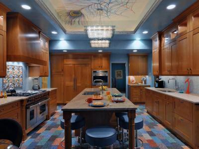 Потолок из гипсокартона для кухни 10