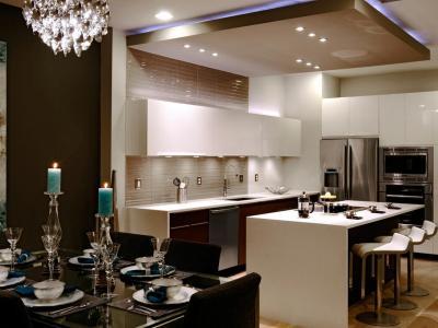 Потолок из гипсокартона для кухни 3
