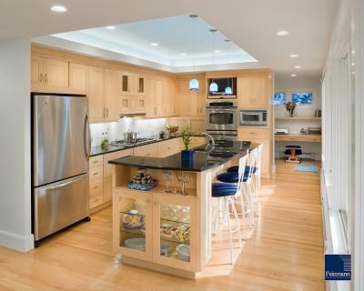 Потолок из гипсокартона для кухни 8