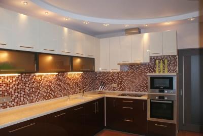 Потолок из гипсокартона для кухни 9