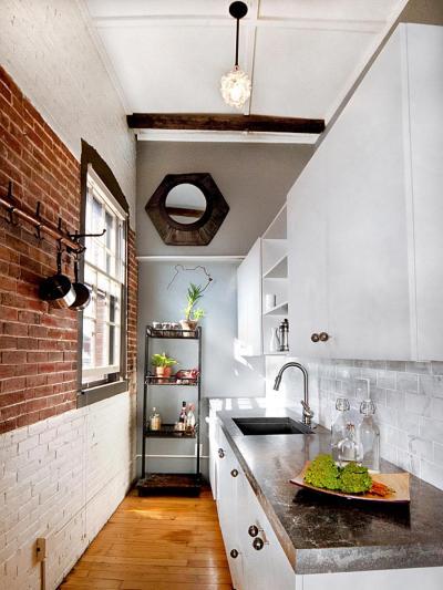 Потолок из гипсокартона для маленькой кухни 6