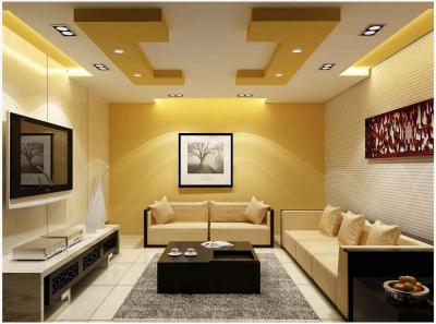 Потолок из гипсокартона для зала в хрущевке 4