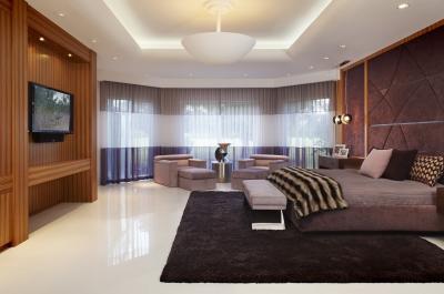 Потолок из гипсокартона с подсветкой 2