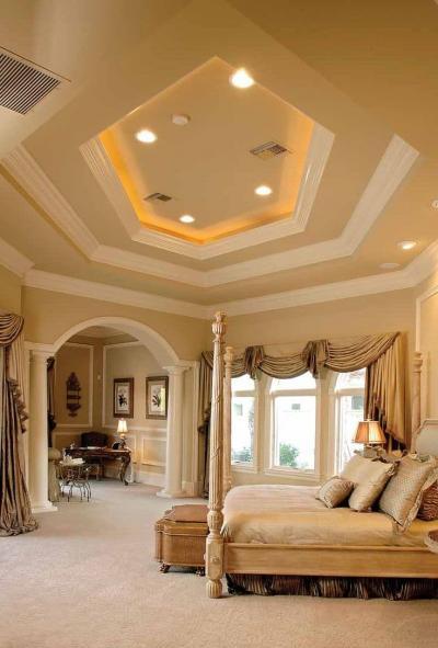 Потолок из гипсокартона с подсветкой 9