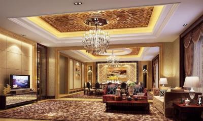 Потолок из гипсокартона в гостиной 6