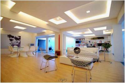 Потолок из гипсокартона в кухне-гостиной 3