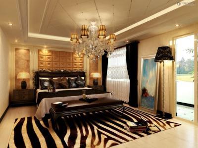 Потолок из гипсокартона в спальне 4
