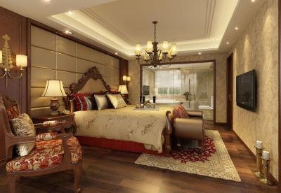 Потолок из гипсокартона в спальне 5