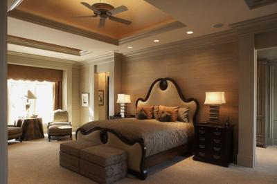 Потолок из гипсокартона в спальне 9