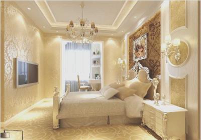 Потолок из гипсокатона для спальни 12-14 м 1