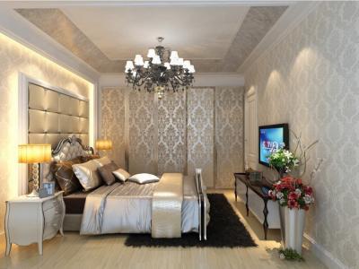 Обои для спальни в классическом стиле 2