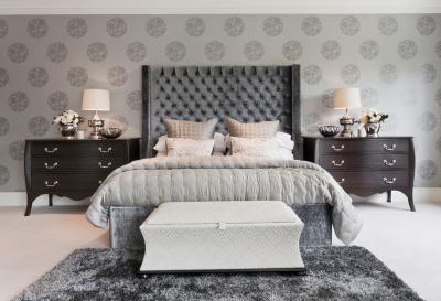 Обои для спальни в классическом стиле 4