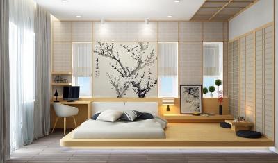Обои для спальни в японском стиле 2