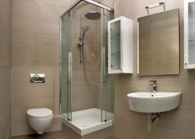 Идея оформления маленькой ванной комнаты 3