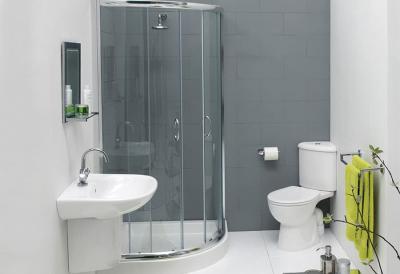 Идея оформления маленькой ванной комнаты 4