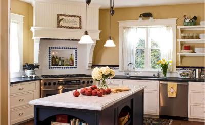 Кухня с угловой вытяжкой 2