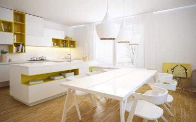 Угловая кухня в скандинавском стиле 4