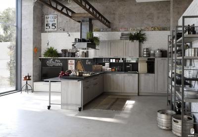 Угловая кухня в стиле лофт 3
