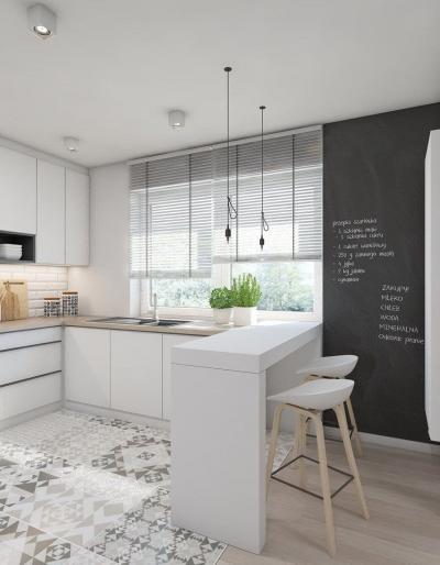 Белая кухня 6 кв. м 5