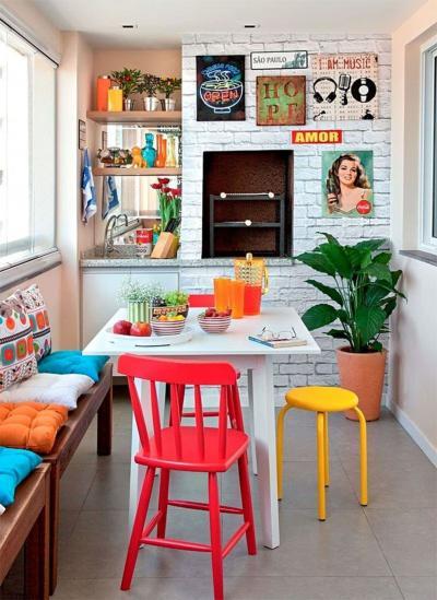Кухня 6 кв. м в стиле эклектика 4