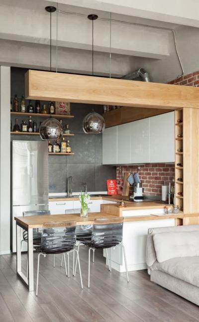 Кухня 6 кв. м в стиле лофт 6